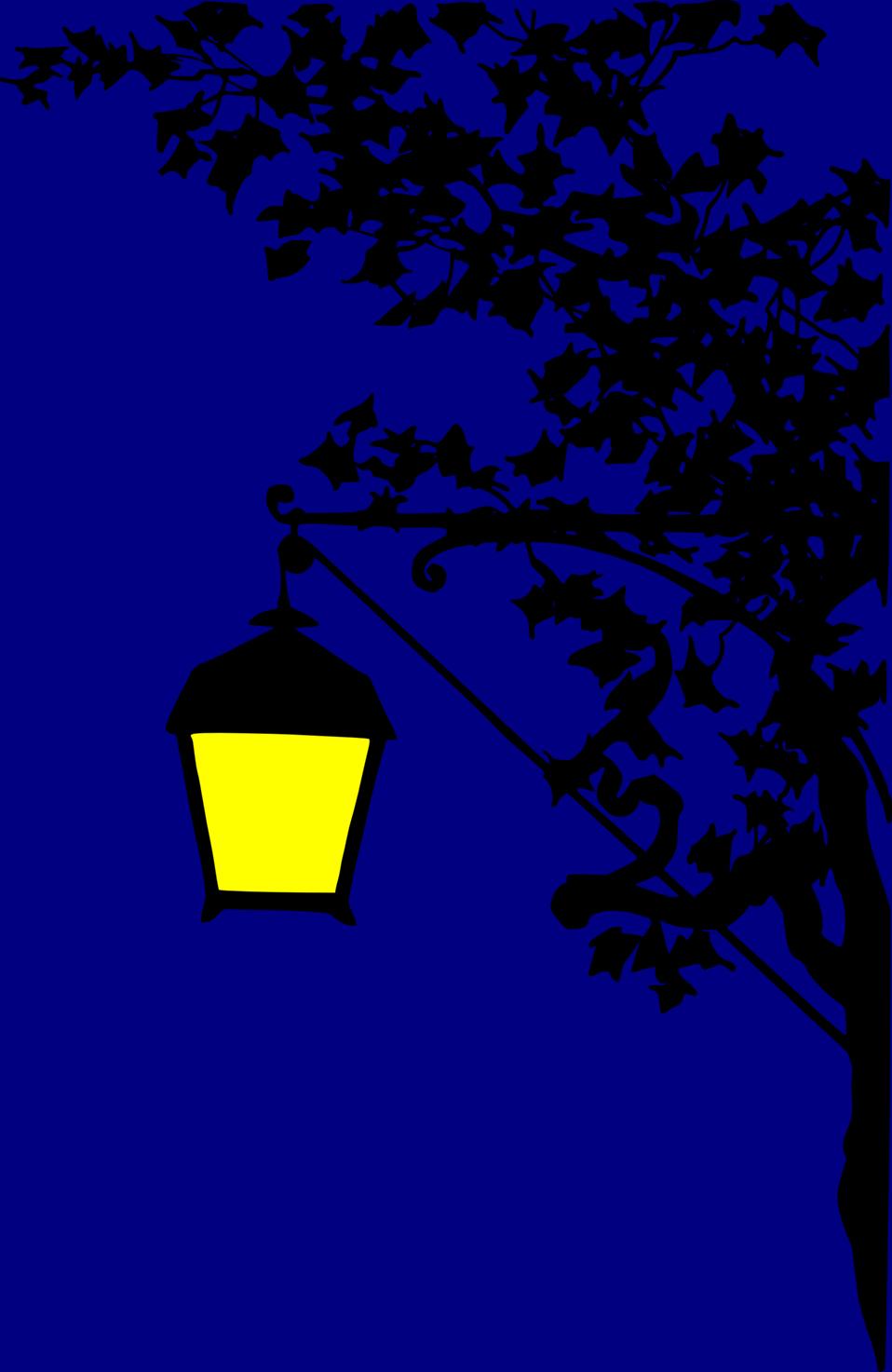 Vintage street lamp silhouette