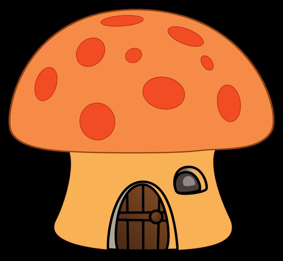 Orange mushroom house
