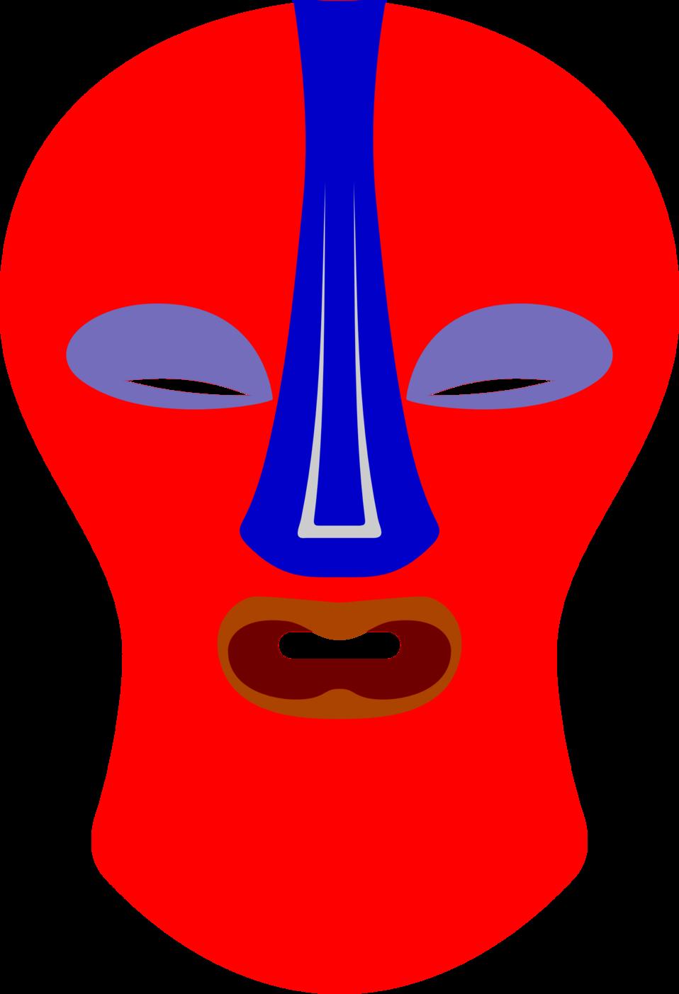 African Mask. Baluba, Zaire