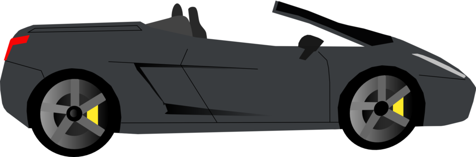 Black Cabrio Side View