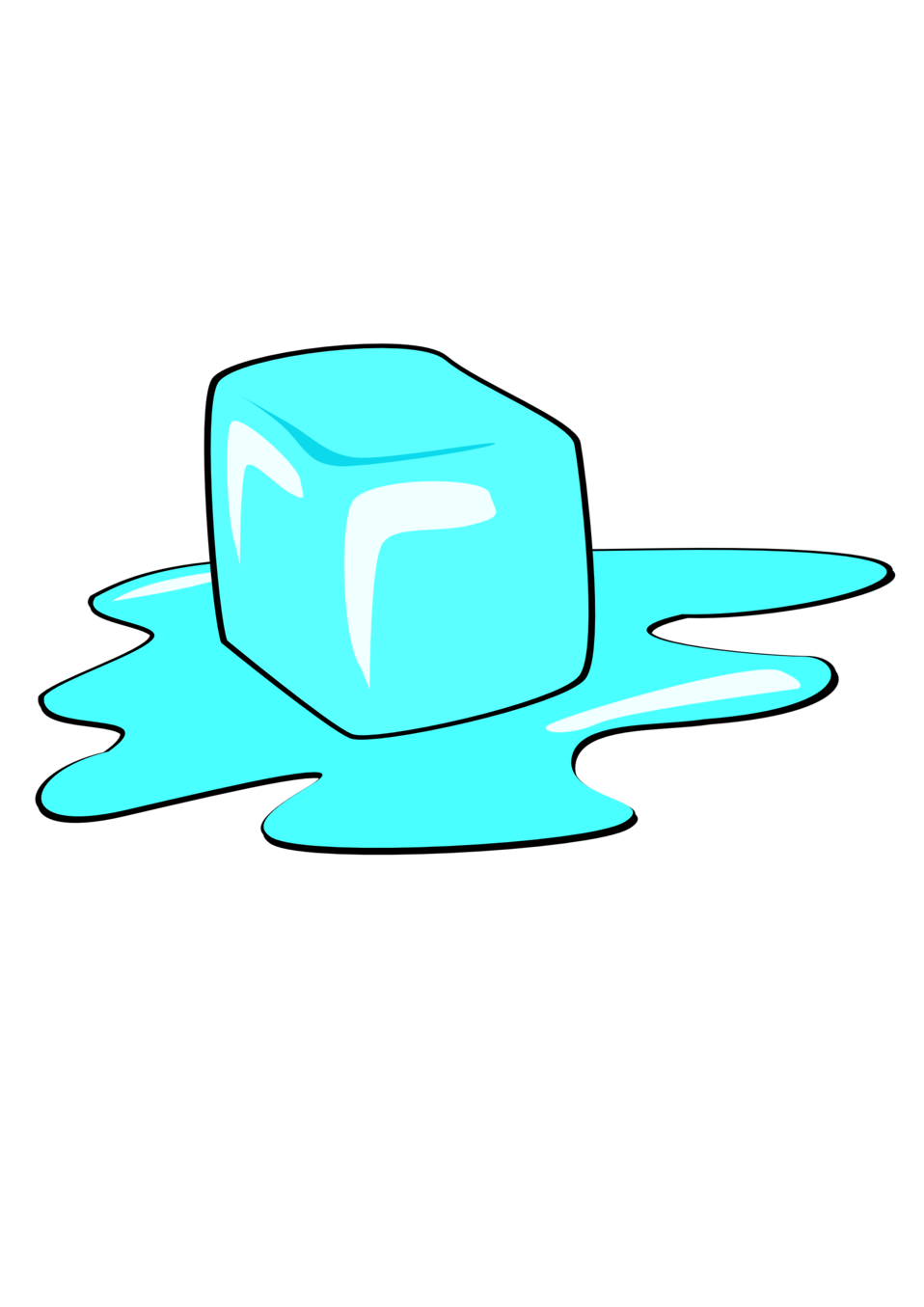 public domain clip art image ice cube id