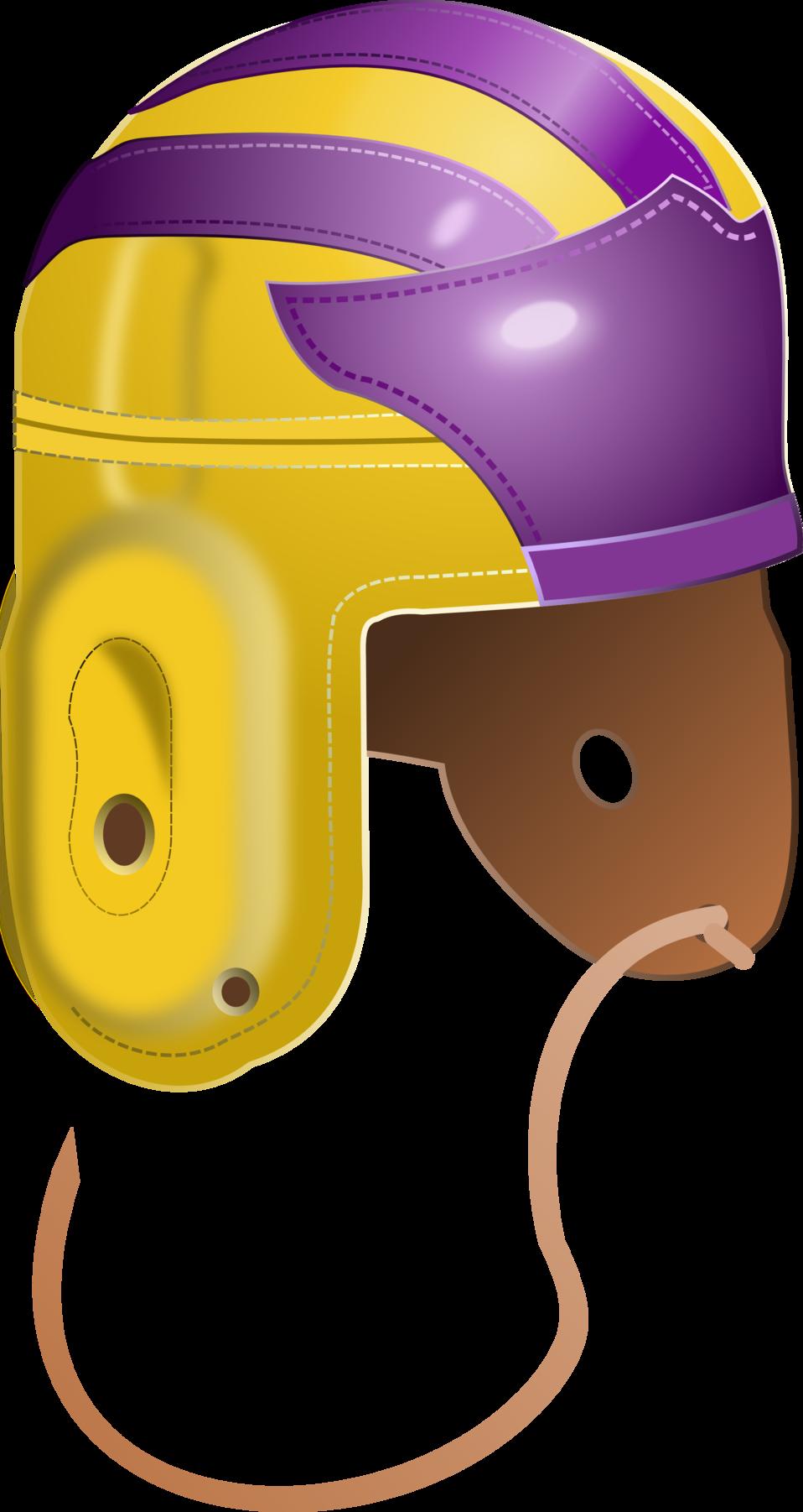 Vintage 1940's College Football Helmet