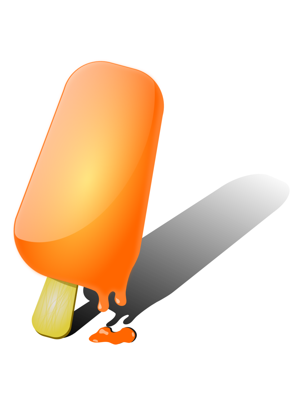 Orange ice