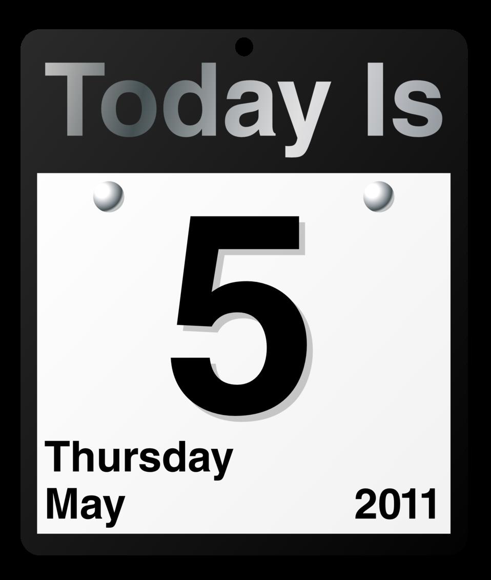 """""""Today Is"""" calendar"""