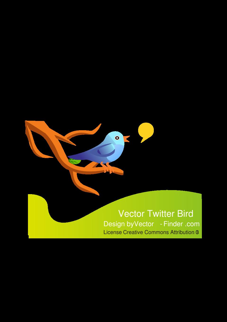 Free Vector Tweeting Bird