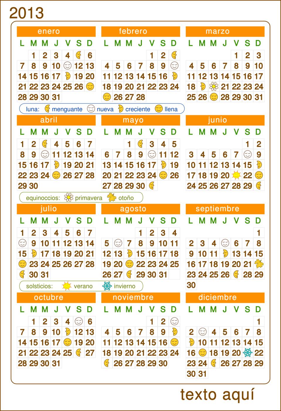 Calendario 2013 Calendar v.2