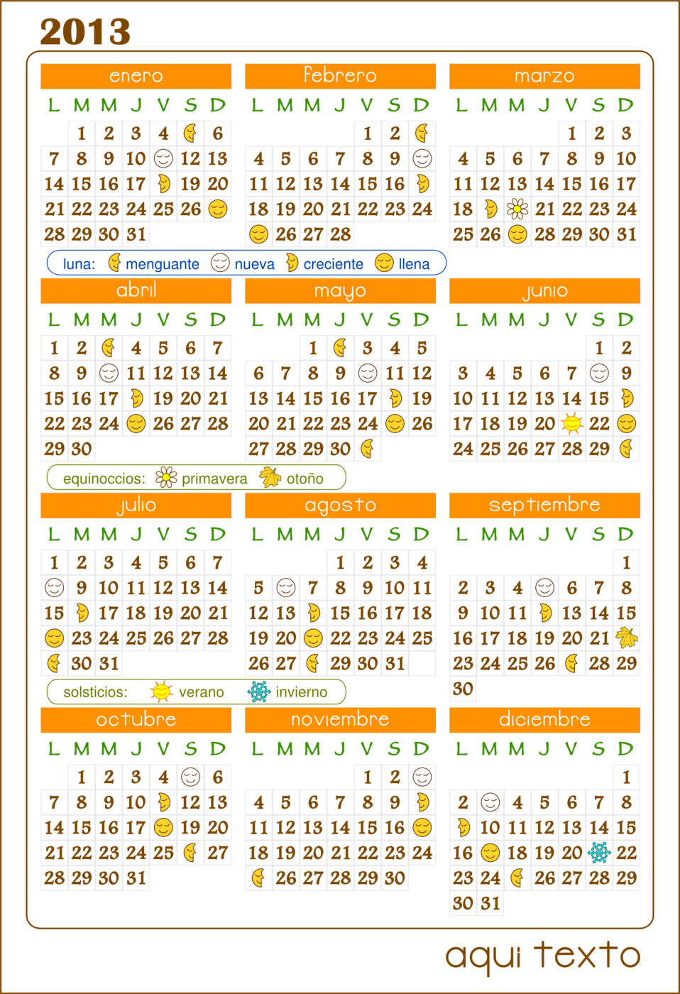 Calendario 2013 Calendar v.1