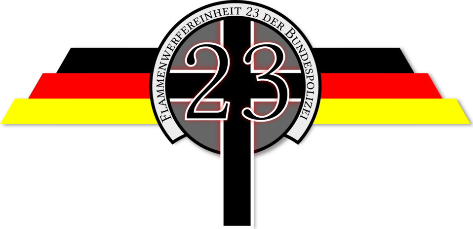 Flame Thrower Police Squad 23 Logo