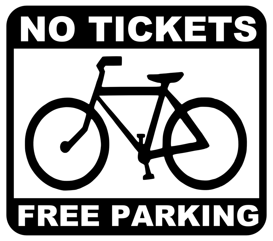 bike - no tickets, free parking