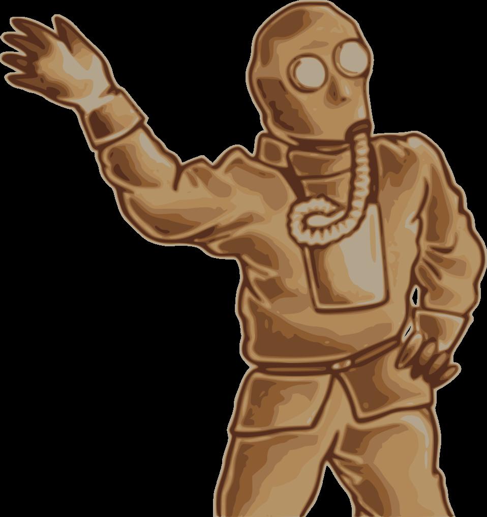 Japanese Gas Mask Man