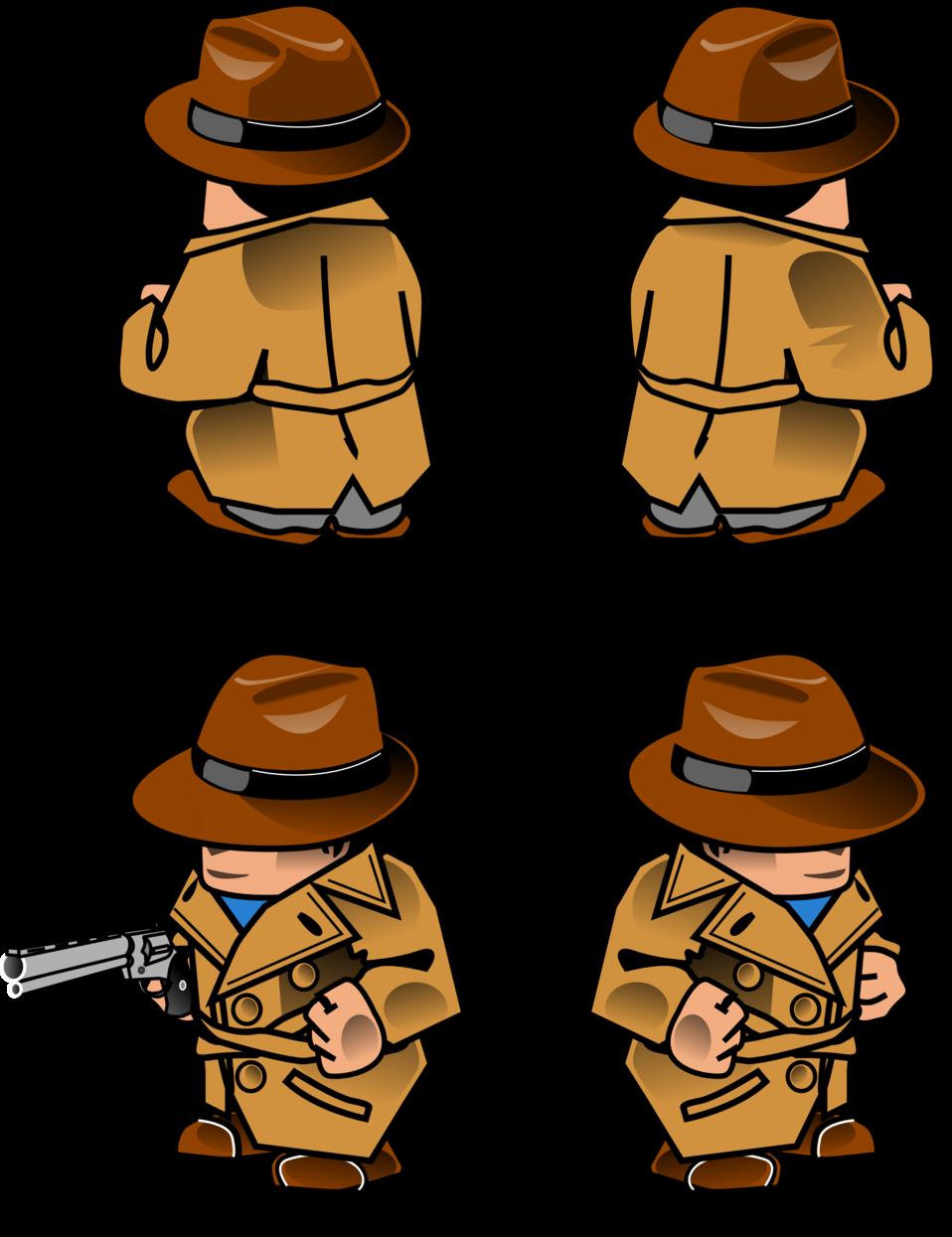 Noir detective sprite