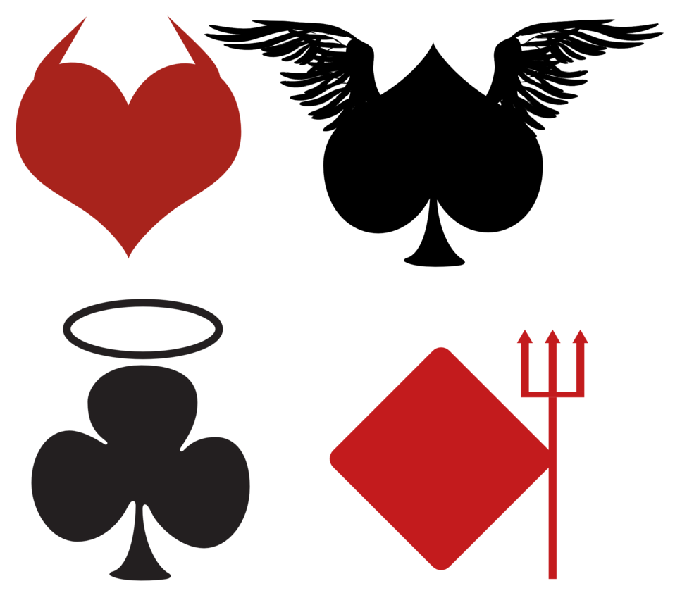 Card Suits, Angelic or Devilish