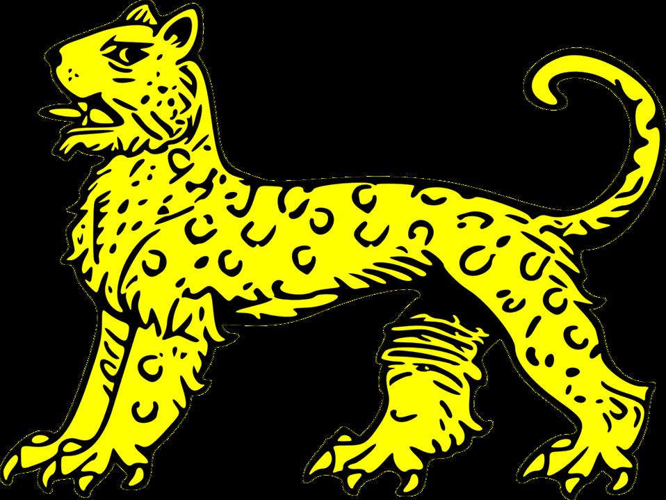 leopard passant