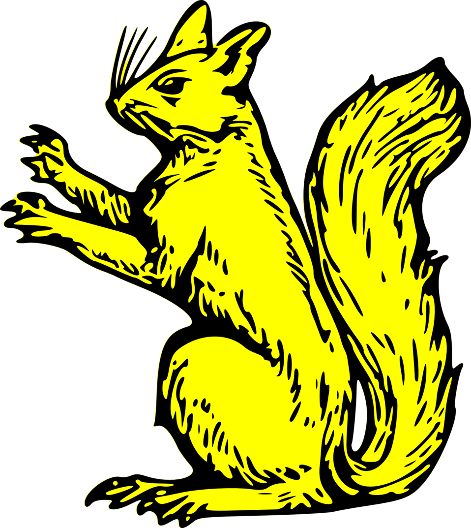 squirrel sejant erect