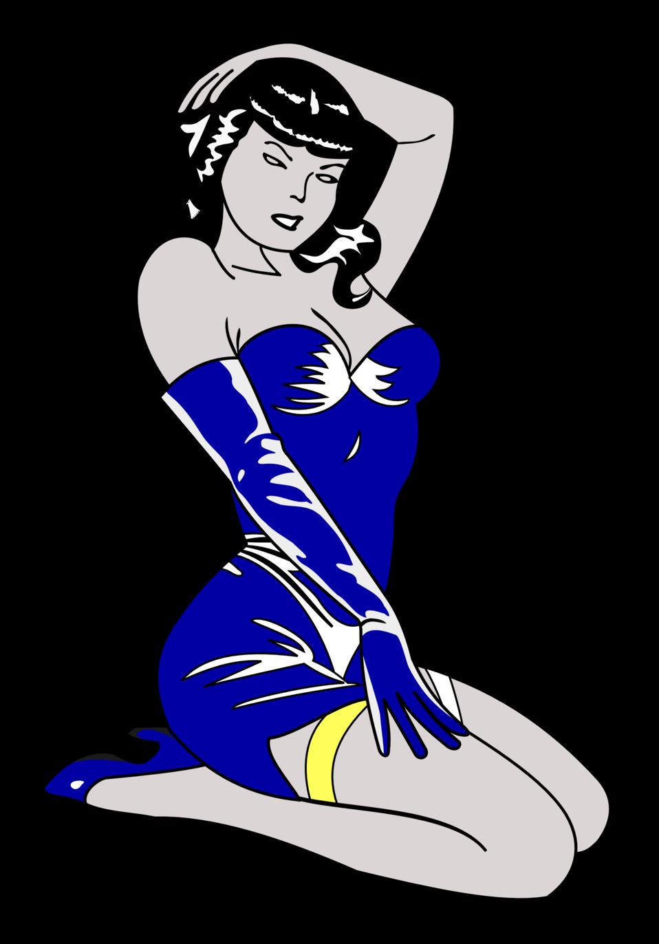 Pin-up blue