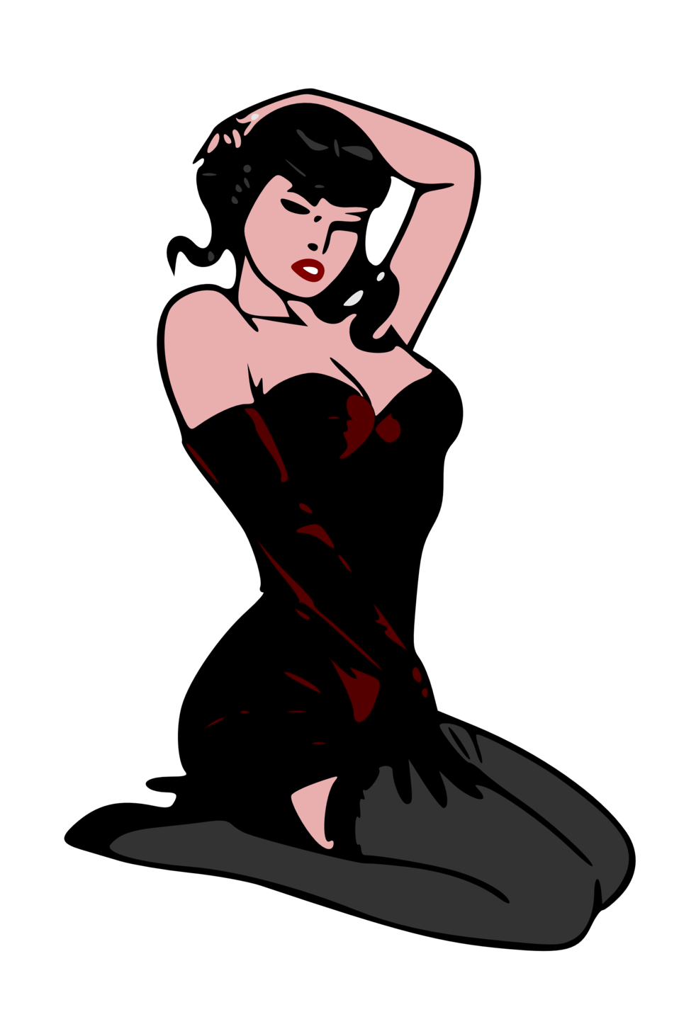 Pin-up red