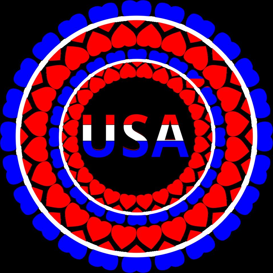 Heart USA Circles