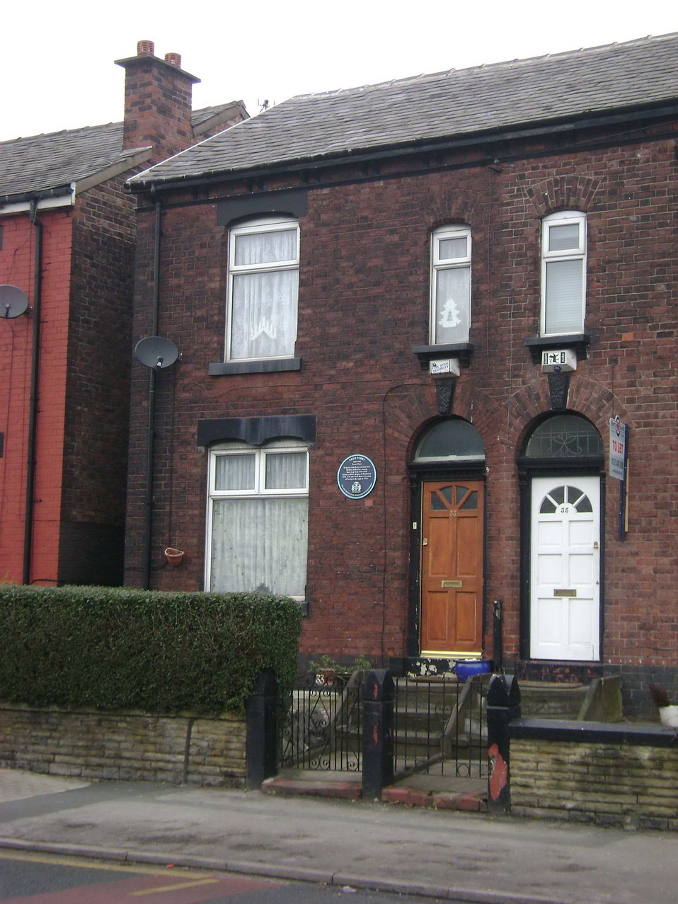 The house where Fred Perry was born, Stockport.