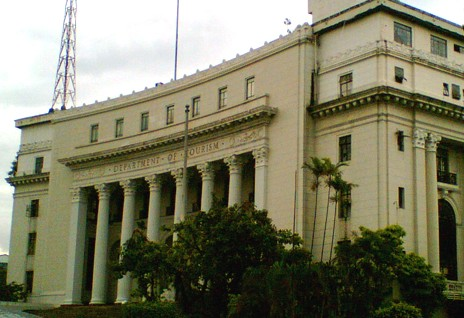 Facade of the Dept. of Tourism bldg.