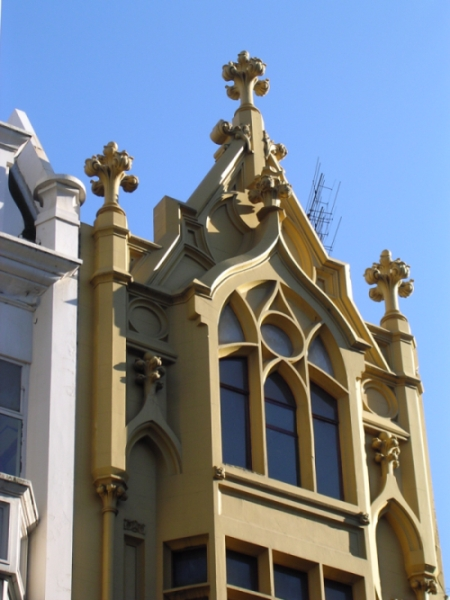 1930s Gothic facade on Bourke Street Mall, Melbourne