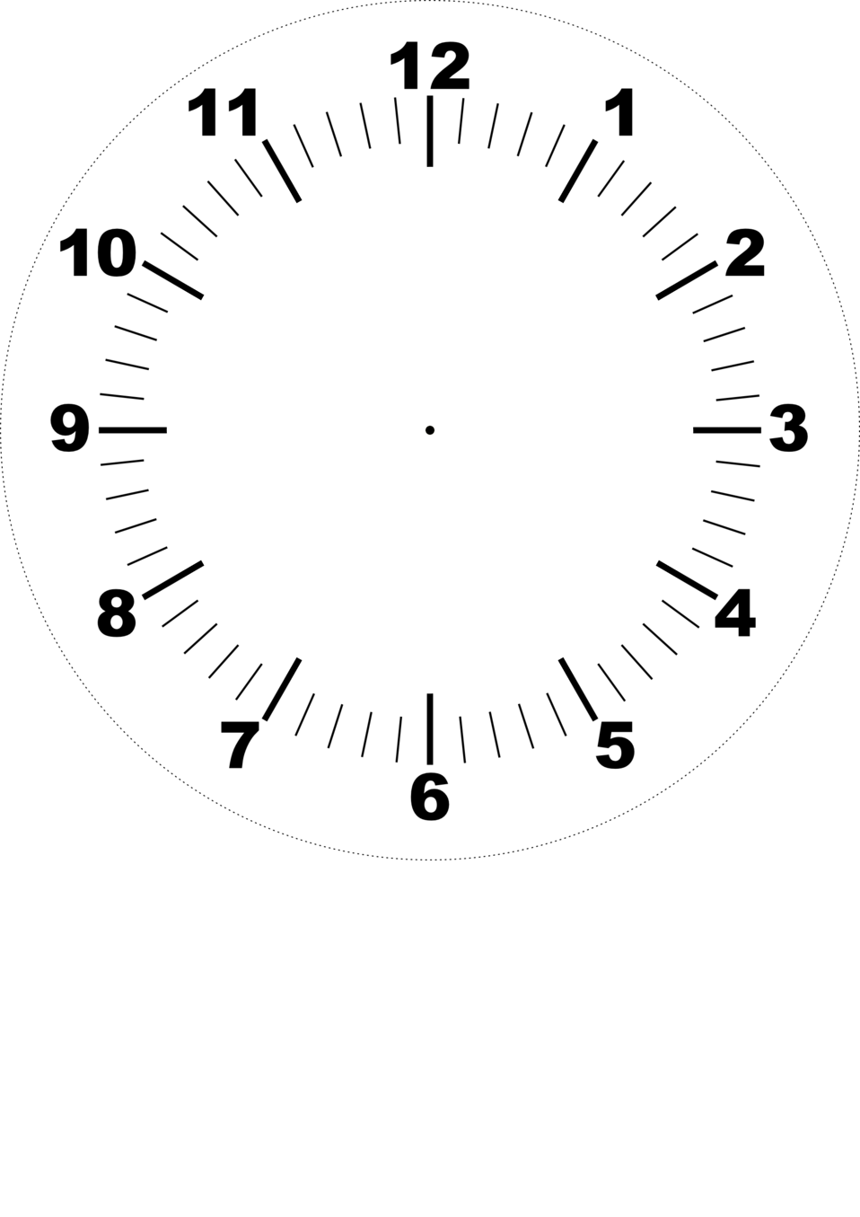Public Domain Clip Art Image | DIY clock face | ID ...