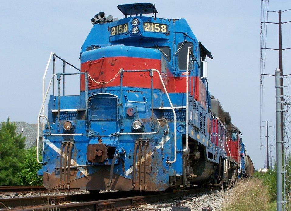 Chesapeake and Albemarle Railroad, 2158 GP7u, Chesapeake, VA.