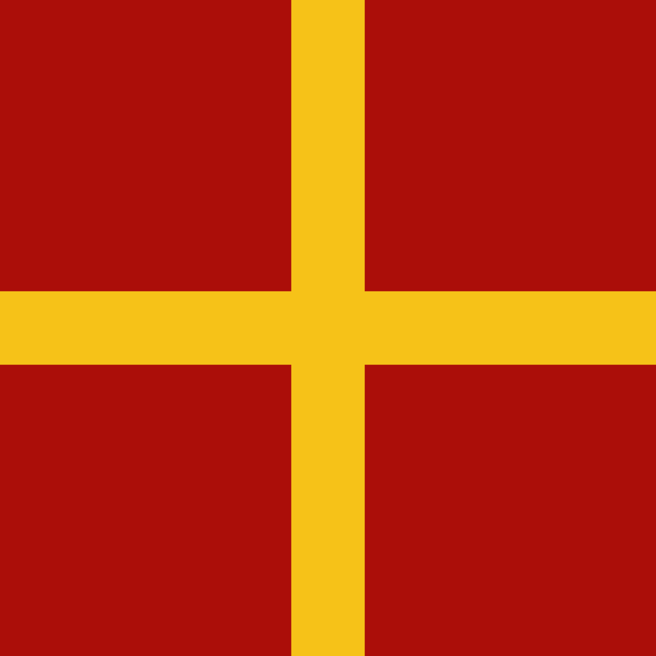 Flag depicting the Arms of the Palaiologos [Palaeologus] family in use before the ascent of Michael VIII Palaeologus to the imperial throne of the Byzantine Empire (1080-1259). Originally petty rulers from Macedonia, the Palaiologi came to prominence afte