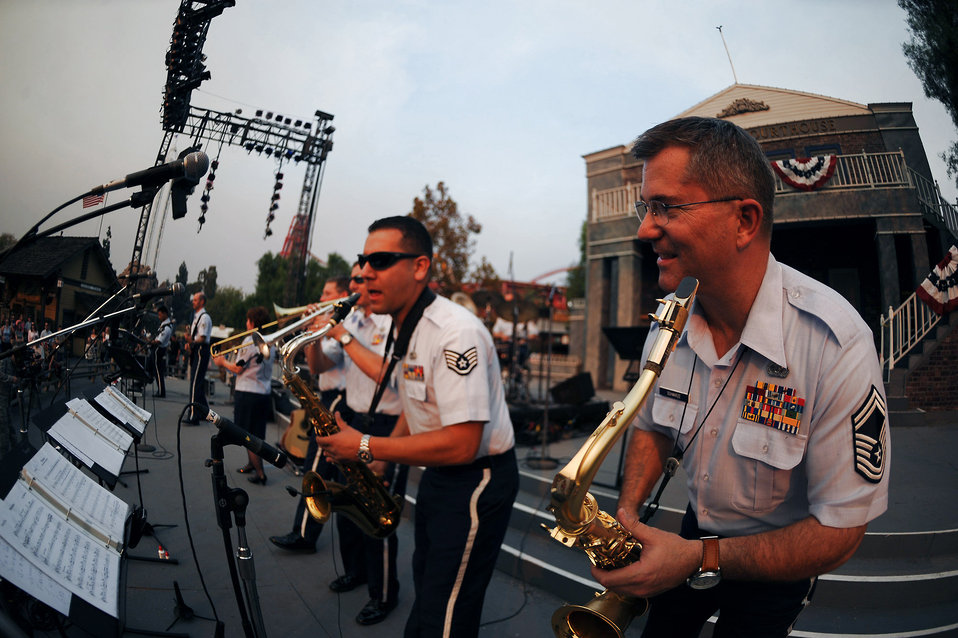 Bands spread Air Force message through music