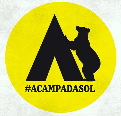 Español:  Logotipo #AcampadaSol
