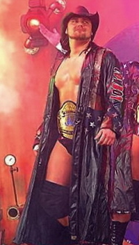 Cowboy James Storm during a TNA Impact taping