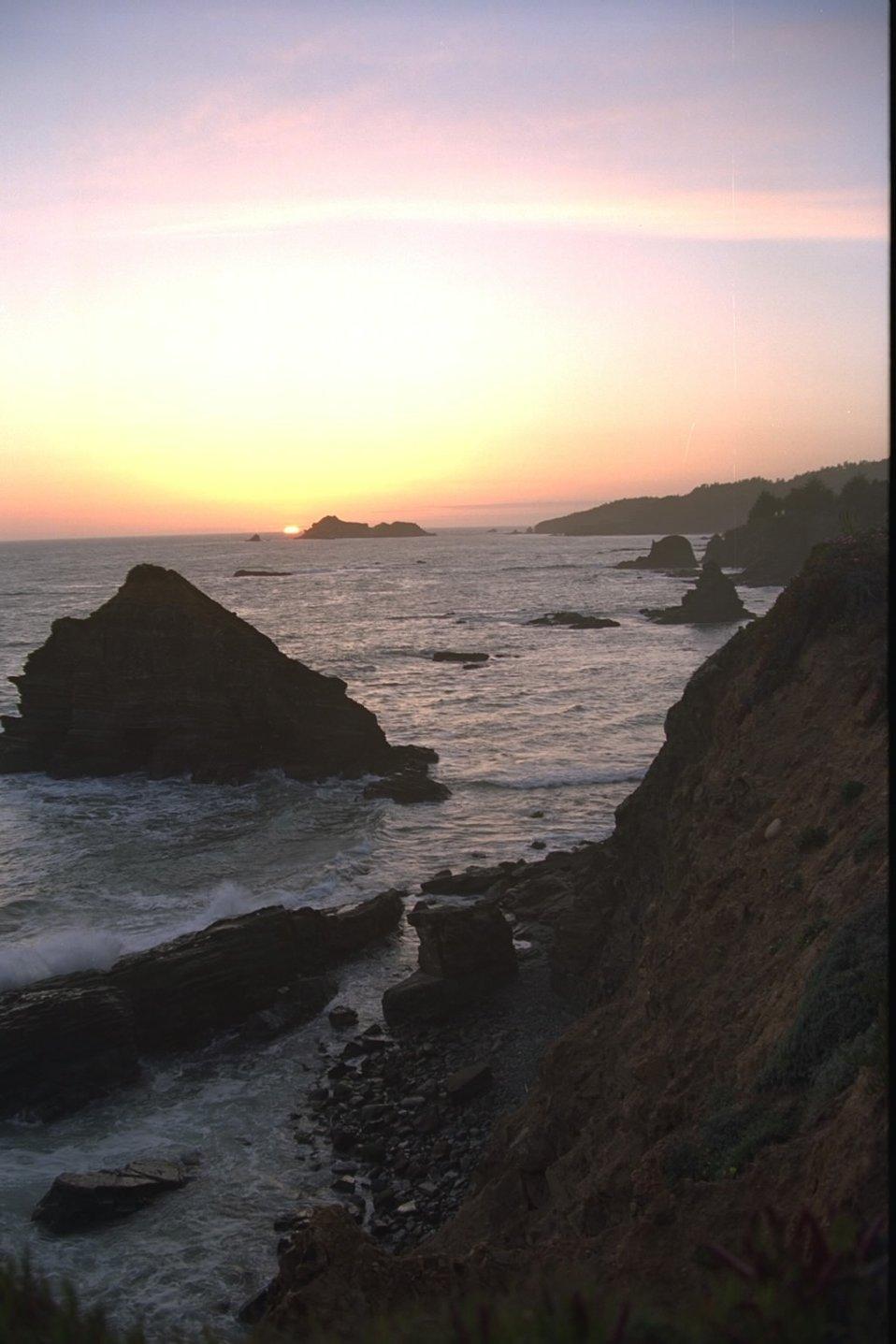 Sunset California coastal national monument