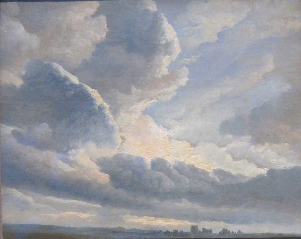 'Study of Clouds with a Sunset near Rome', oil painting on paper by Simon Alexandre-Clément Denis, 1786-1801, Getty Museum.jpg