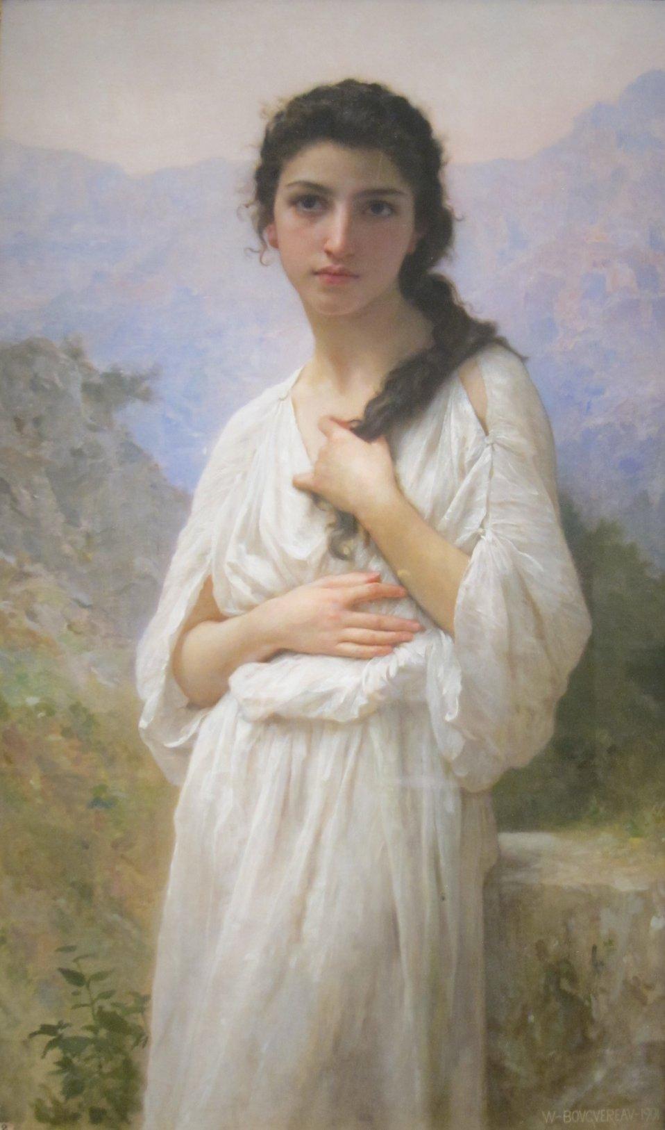 'Meditation' by Bouguereau, Cincinnati Art Museum.JPG