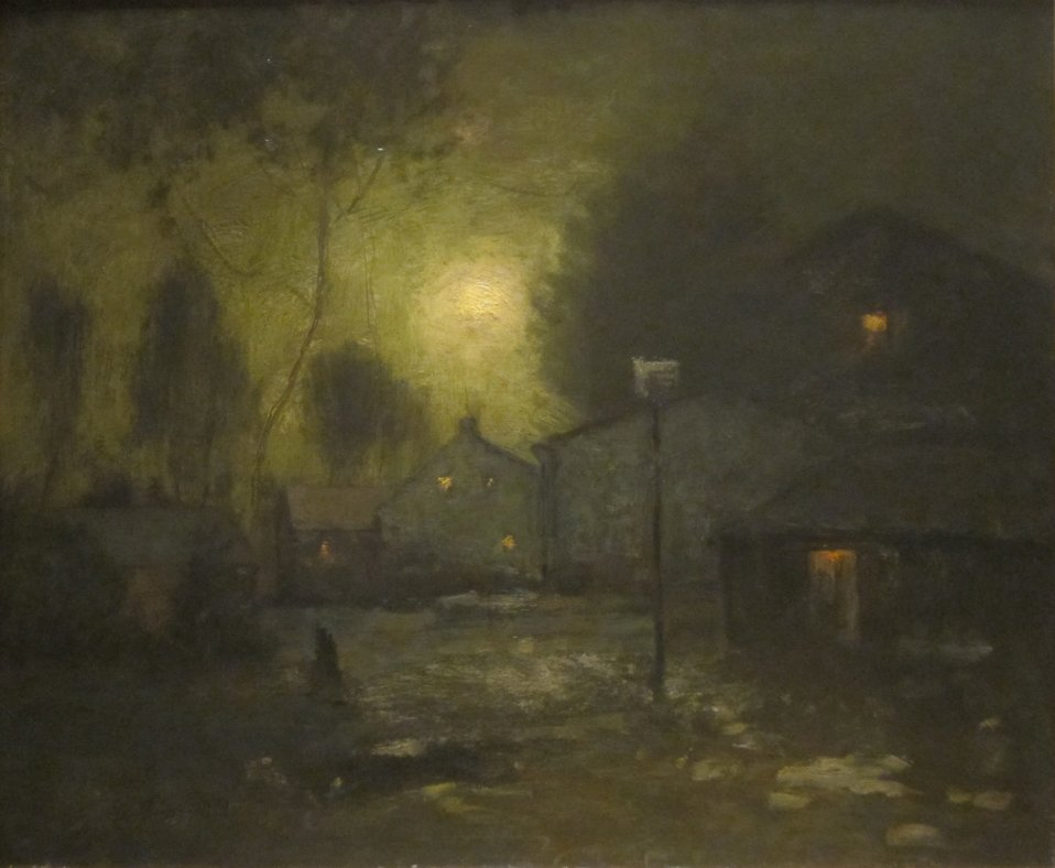 Moonlight, oil on canvas painting by George Inness, 1893, De Young Museum