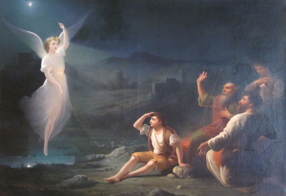 'The Angel Appearing before the Shepherds' by Thomas Buchanan Read, Dayton Art Institute.JPG