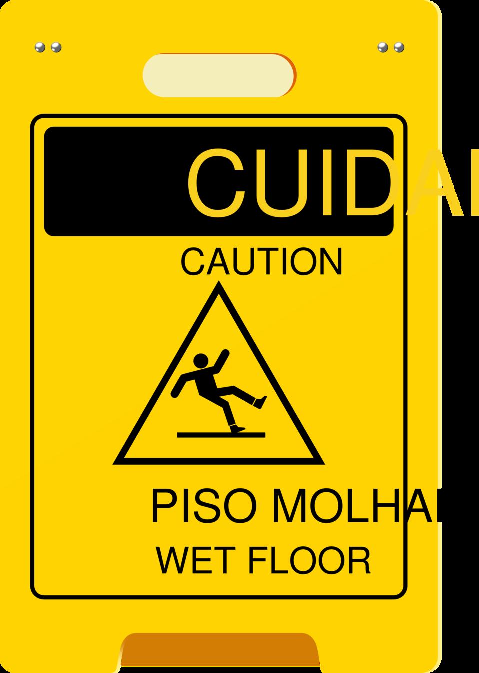 wet-floor-plaque