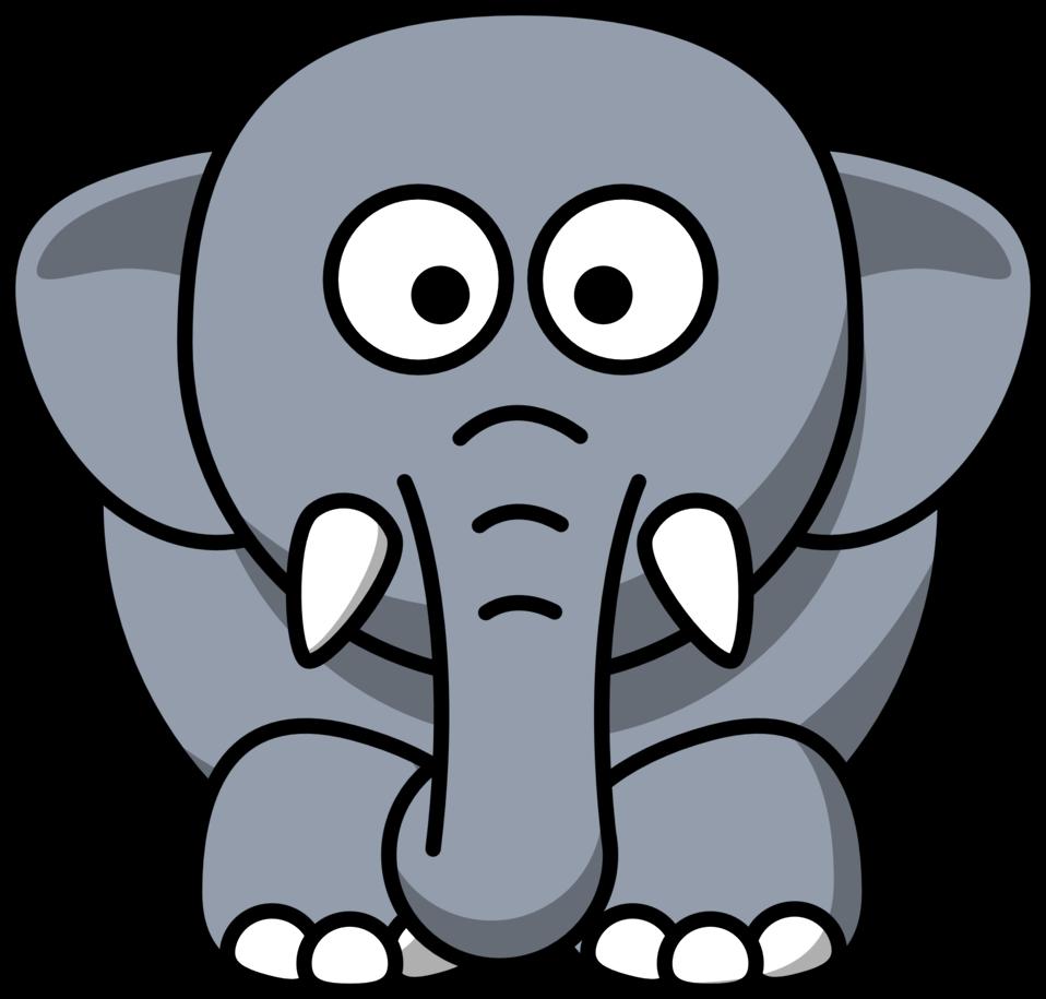 Public Domain Clip Art Image | Cartoon elephant | ID ...