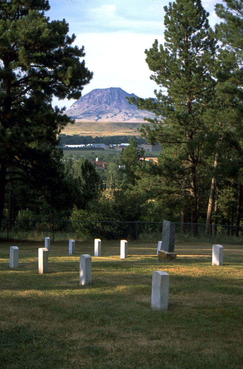 Old Post Cemetery with Bear Butte in the background