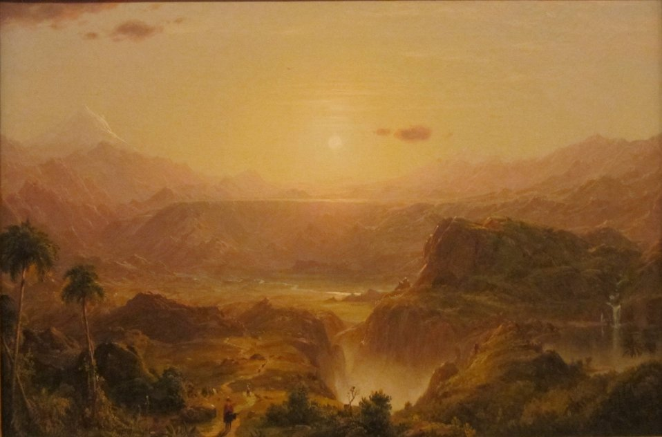 The Andes of Ecuador — oil on canvas painting by Frederic Edwin Church, 1855, Honolulu Academy of Arts.