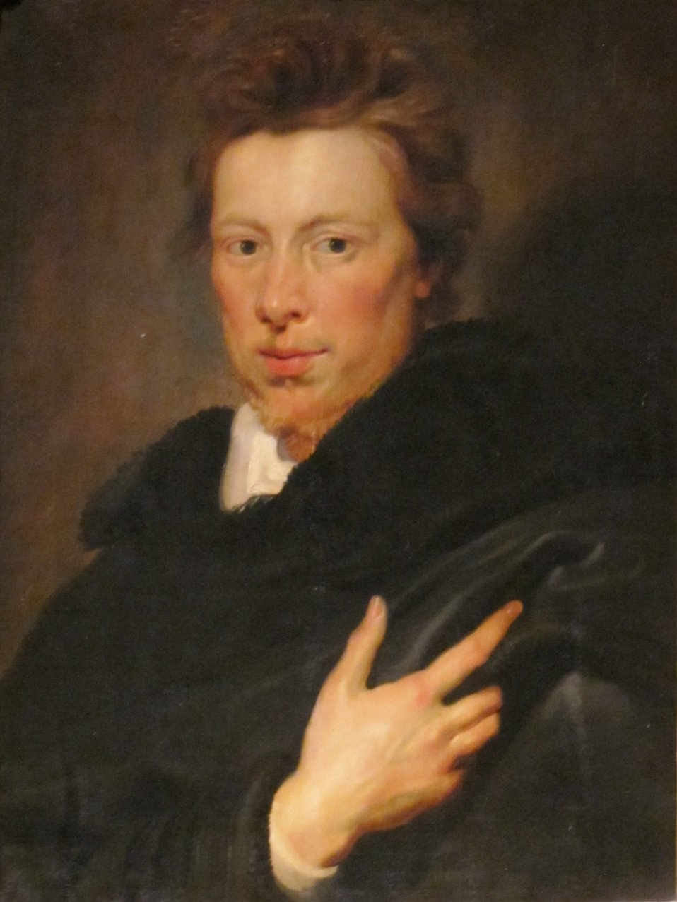 Portrait of Daniel Nijs, oil on oak panel painting by Peter Paul Rubens, c. 1612-15, Dayton Art Institute