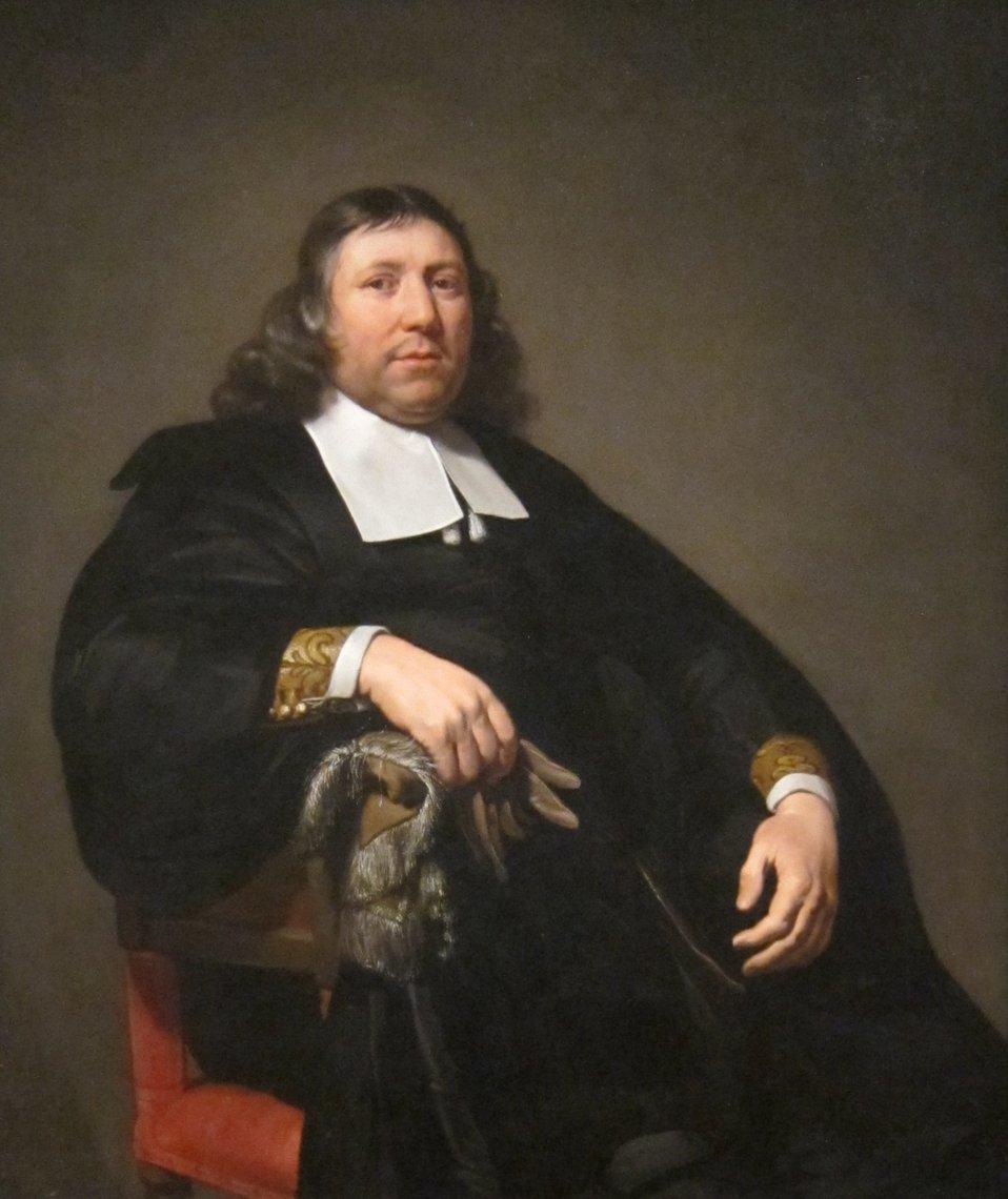 Portrait of Dammas Guldewagen, oil on canvas painting by Jan de Bray, c. 1657, Dayton Art Institute
