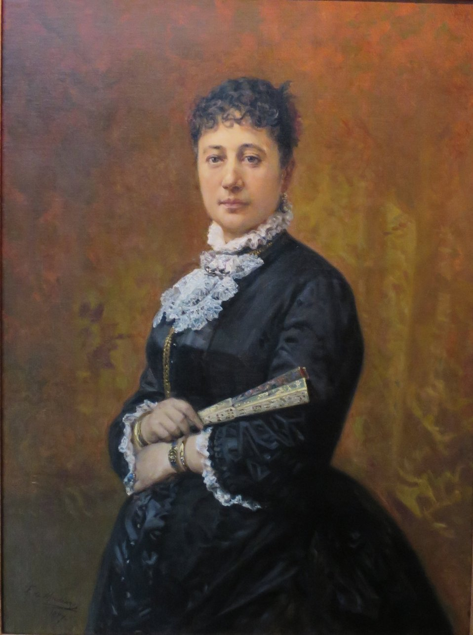 Portrait of Bernice Pauahi Bishop painted by Frederico de Madrazo from a photograph, 1887, Bernice P. Bishop Museum