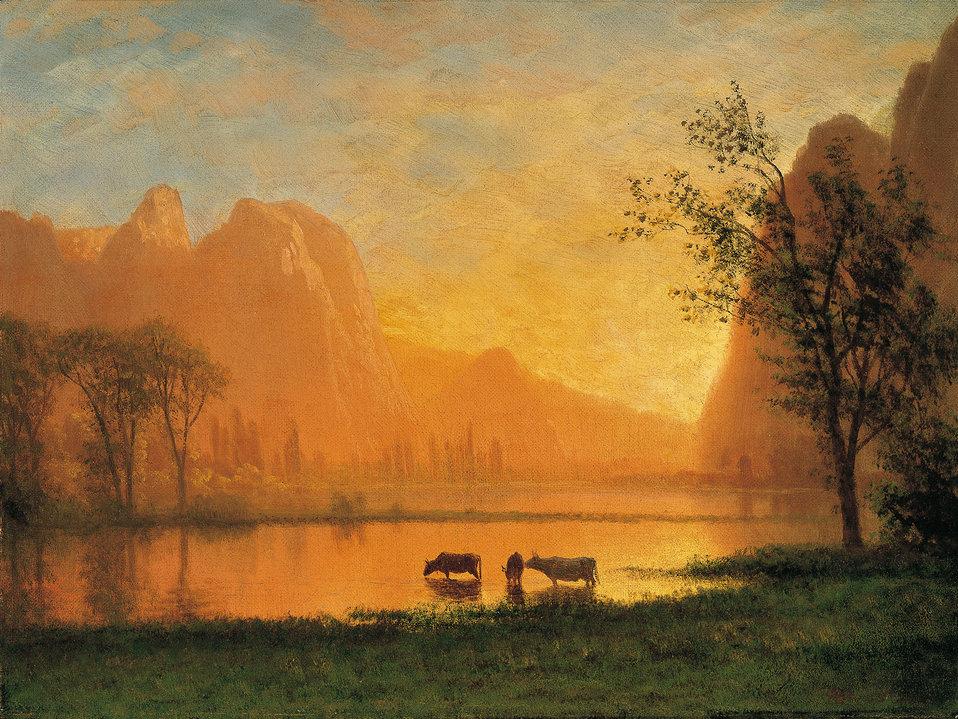 Albert Bierstadt - Sundown at Yosemite.jpg