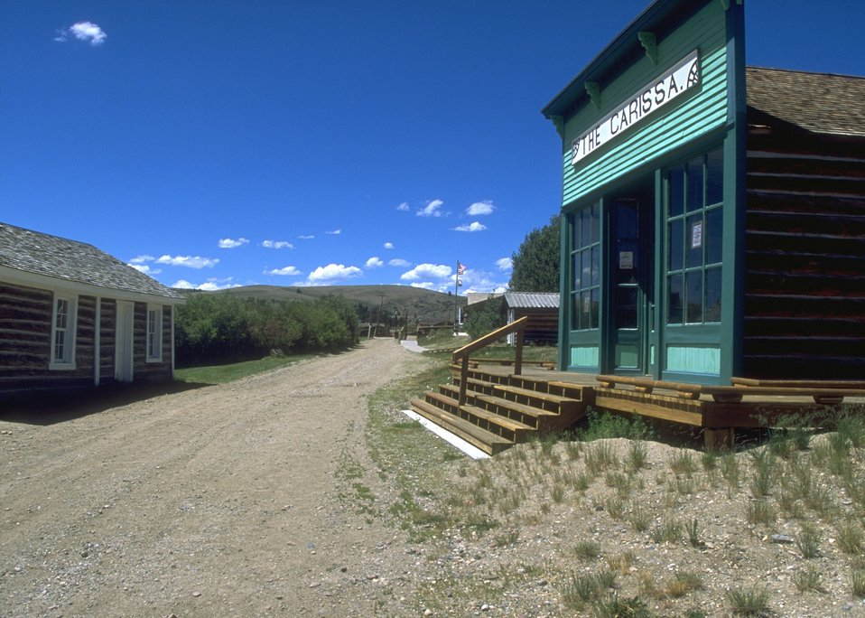 Restored buildings at South Pass City, Lander Field Office.