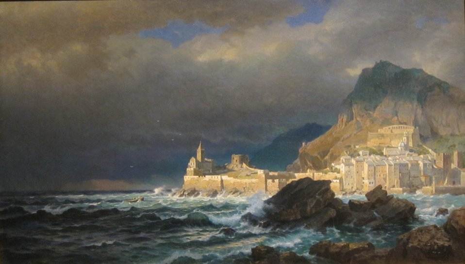 Porto Venere, Spezia, Italy, oil on canvas painting by William Stanley Haseltine, 1878, Dayton Art Institute