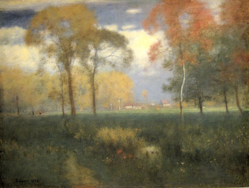 Sunny Autumn Day, oil on canvas painting by George Inness, 1892, Cleveland Museum of Art