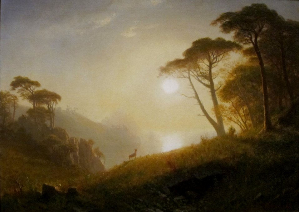 'Scene in Yosemite Valley', oil on canvas painting by Albert Bierstadt, c. 1864-74, Dayton Art Institute
