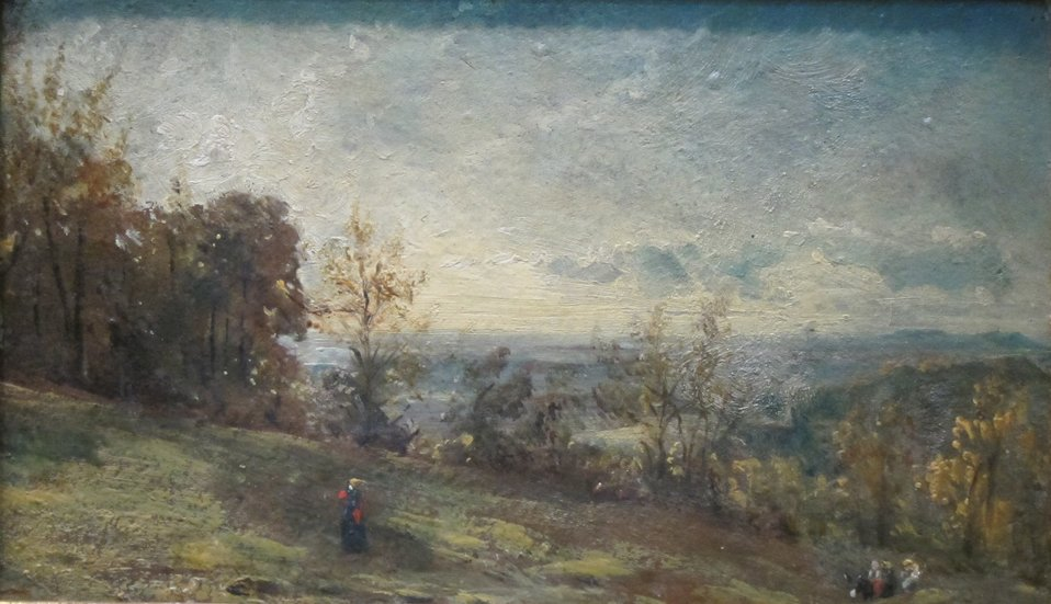 Hempstead Heath – Fine Evening, oil on cardboard painting by John Constable, 1820, long-term loan to the Dayton Art Institute