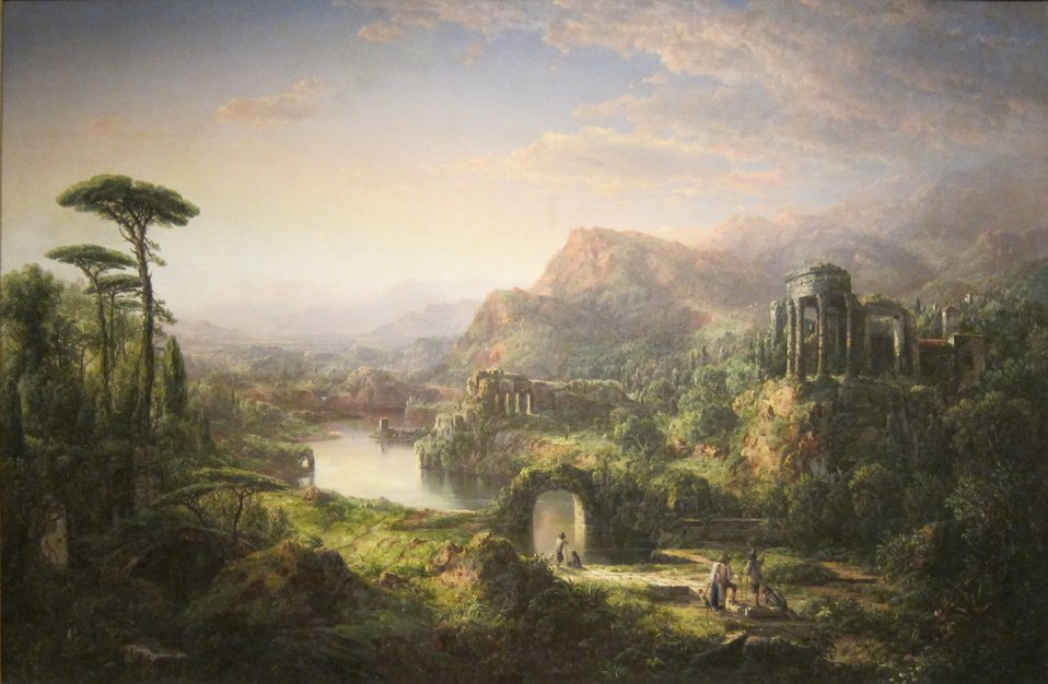 Dream of Italy, oil on canvas painting by William Louis Sonntag, 1859, Dayton Art Institute