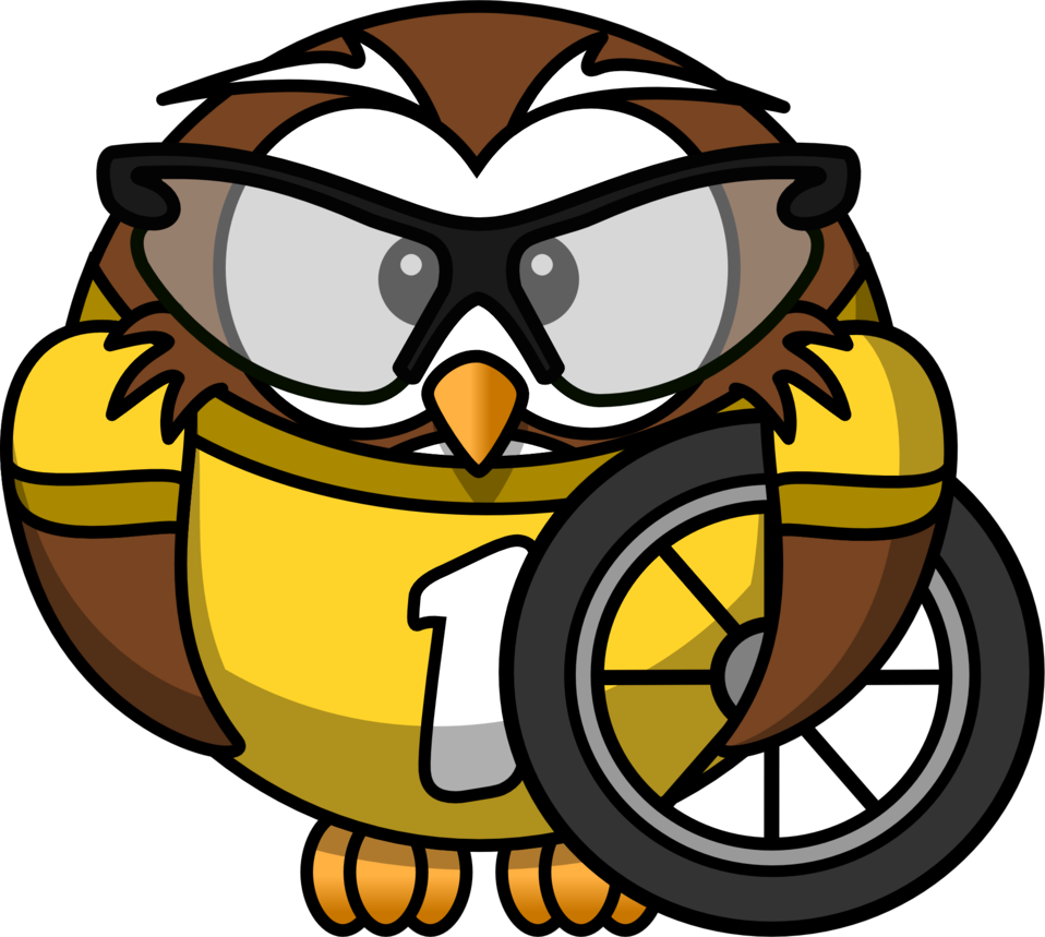 Owl cyclist